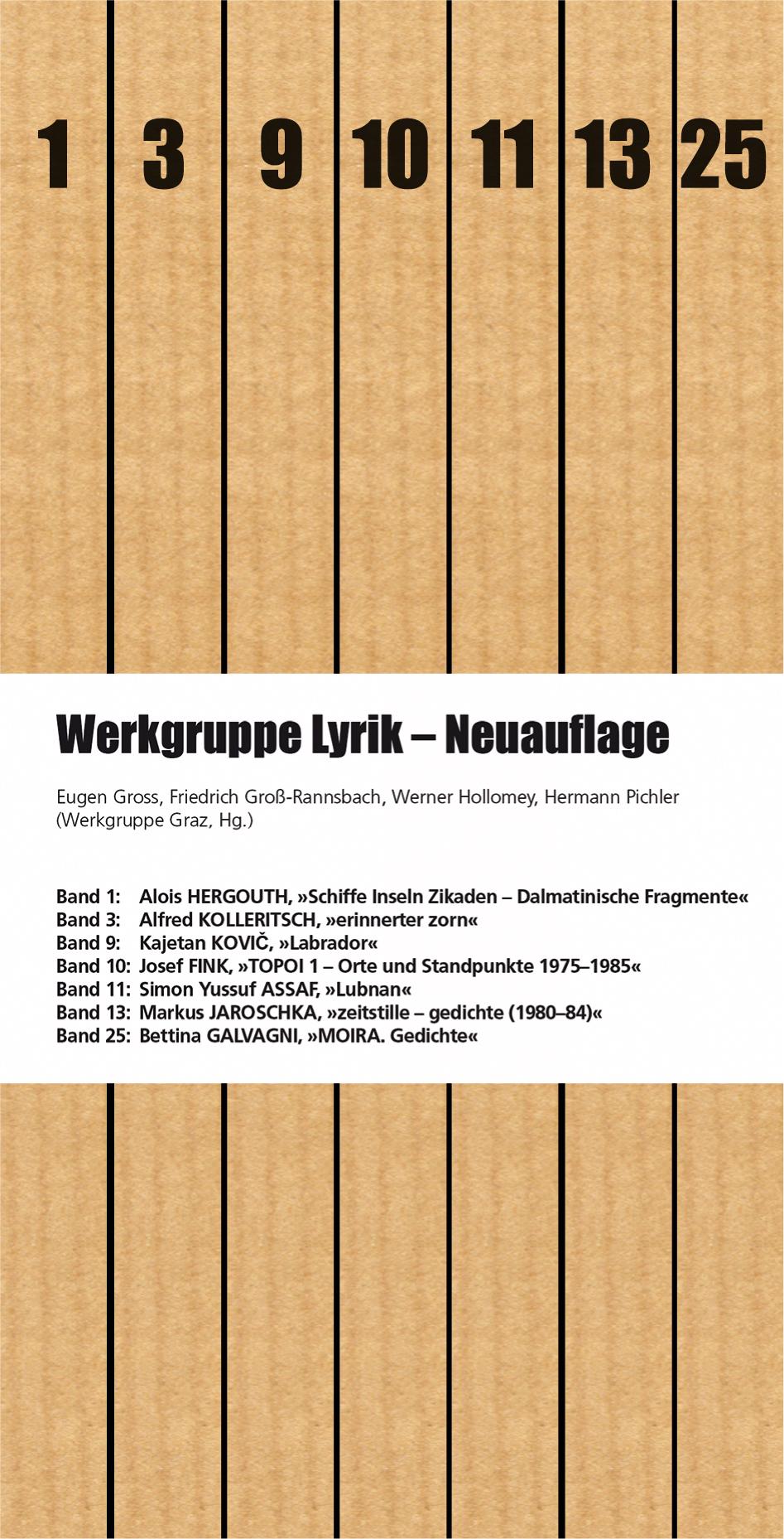 Werkgruppe Lyrik Neuauflage