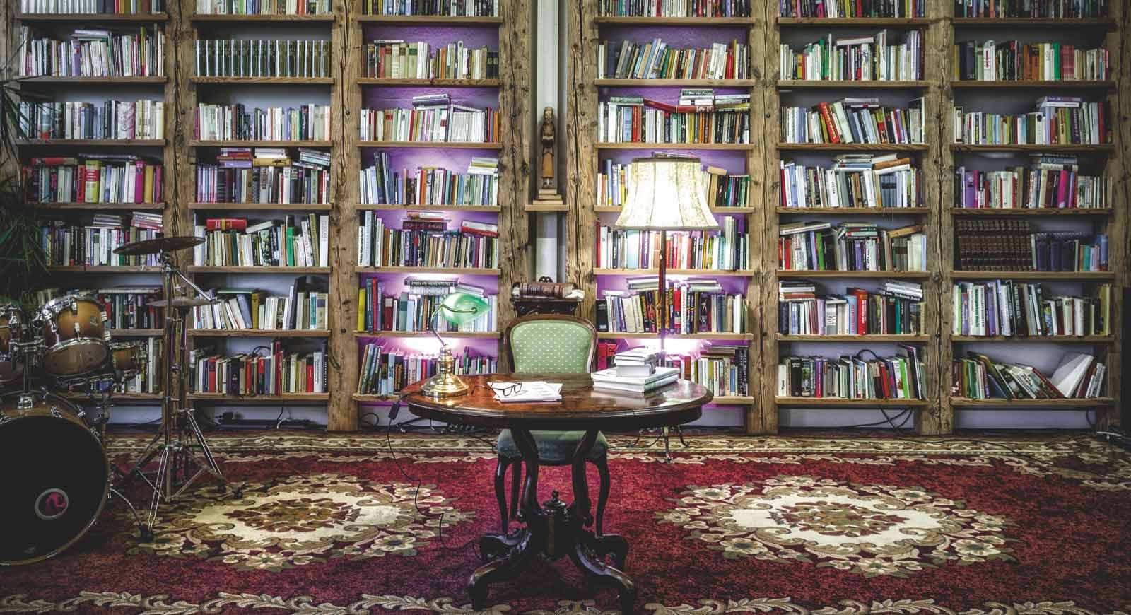 Literaturwohnzimmer im Verlag Keiper.